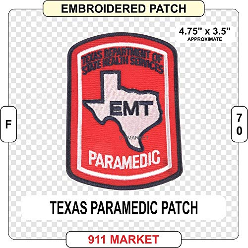 Ems Twill - Texas Paramedic Patch TX EMT Embroidered EMS - F 70
