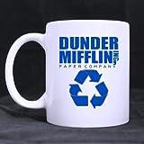 Top Dunder Mifflin Theme Coffee Mug or Tea Cup,Ceramic Material Mugs,White - 11oz