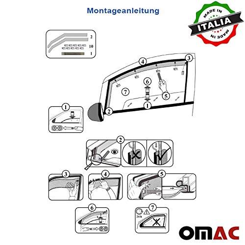 Omac GmbH Windabweiser Regenabweiser 2 Teileg Satz vorne