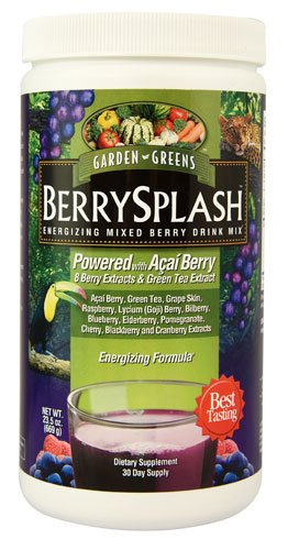Garden Greens Energizing Mixed Berry Drink Mix BerrySplash -- 23.5 oz - 2pc - Energizing Mixed Berry Drink