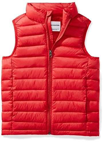 - Amazon Essentials Big Boys' Lightweight Water-Resistant Packable Puffer Vest, Red, X-Large