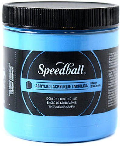 Speedball Acrylic Screen Printing Ink (Fluorescent Blue) 1 pcs sku# 1873750MA Acrylic Screen Printing Ink