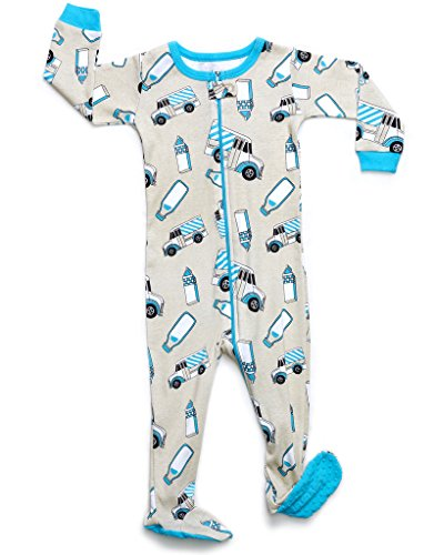 2989b2b9bff4 Leveret Baby Boys Girls Footed Pajamas Sleeper 100% Organic Cotton ...