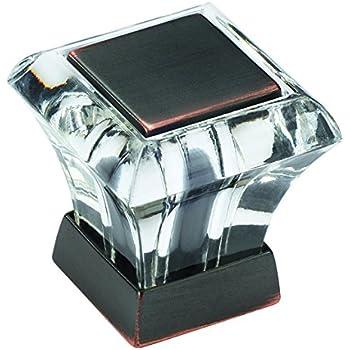 Amerock BP29460CORB Abernathy 1-1/16 in (27 mm) Length Clear/Oil-Rubbed Bronze Cabinet Knob