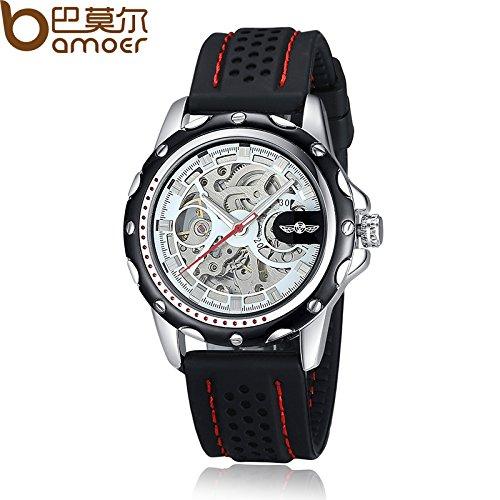 Winner marca Alta calidad pulsera movimiento hombres relojes automático para hombre con banda de silicona en Aliexpress xcm5007: Amazon.es: Relojes