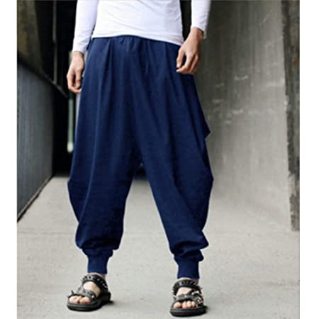 NSYJKPantaloni da yogaHombres Pantalón de Yoga Harem Hippie ...