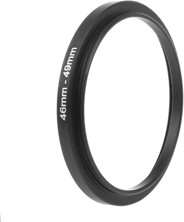 Yuanhaourty Smart Camera Lens Converter 46mm to 49mm Metal Step Up Rings Filter Camera Tool Accessories