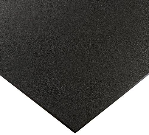 Seaboard High Density Polyethylene Sheet, Matte Finish, 3/4'' Thick, 24'' Length x 36'' Width, Black by Vycom