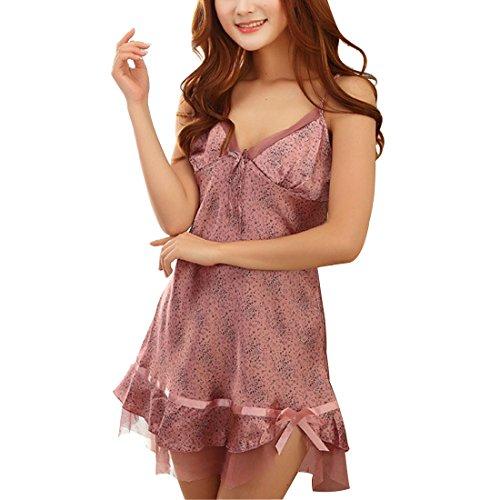 camicia da Pajams letsbuygold donna camicia Sexy notte Lingerie da da Viola bambolina notte Chemise LeBen OUzfwHqWz0