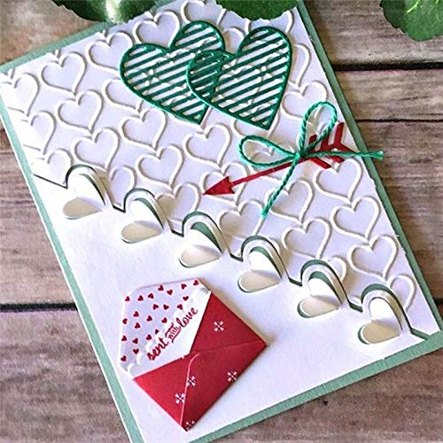 (Best Quality - Cutting Dies - 13pcs Love Notes Framelits Cutting Dies Xmas for Scrapbooking Card Album Making Stencil Metal Die Cut Embossing Craft - by SeedWorld - 1 PCs)