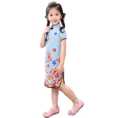 dd0f43f7486f7 Amazon.com: Hooyi Floral Baby Girls Chi-Pao Dress Clothes Chinese ...