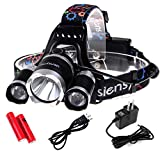 5000Lumen LED Headlamp Siensync(TM) 3x CREE XM-L XML T6 Super Bright Waterproof 4