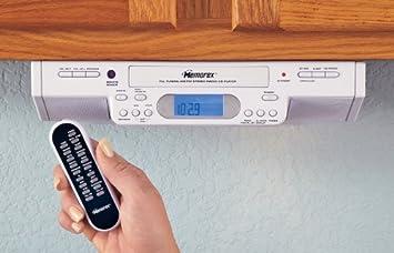 Amazon.com: Memorex® Under Cabinet Mount AM / FM / Clock Radio ...