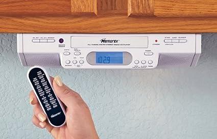 Amazon Com Memorex Under Cabinet Mount Am Fm Clock Radio Cd
