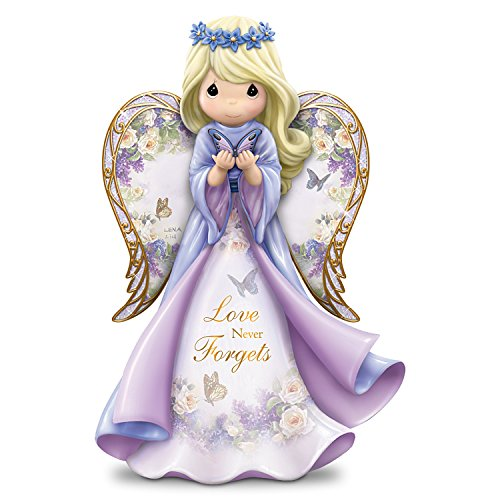 The Hamilton Collection Lena Liu Precious Moments Love Never Forgets Alzheimer's Awareness Angel Figurine