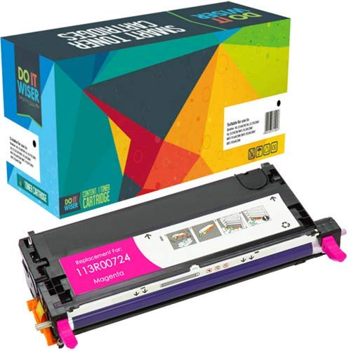 Do it Wiser Remanufactured Toner Cartridge Replacement for Xerox Phaser 6180 6180N 6180DN 6180MFP-D 6180MFP-N | 113R00724 (Magenta)
