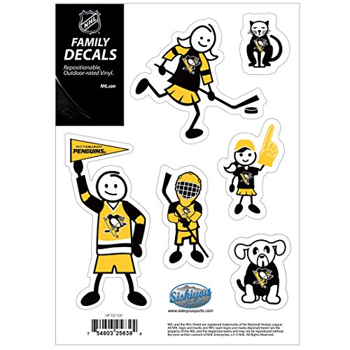 (NHL Pittsburgh Penguins Family Decal Set, Small)