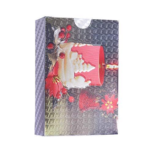 XIANGQI Candle Gold Foil Waterproof Gold-Plated Matte High-Grade Gold Foil Wooden Box Poker ()