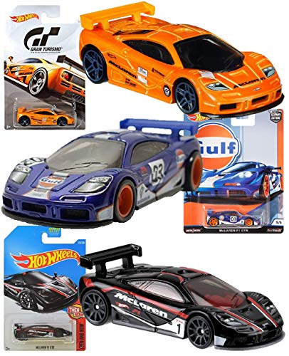 Mclaren F1 Race Car - Hot Wheels McLaren F1 GTR 3 Pack Bundle