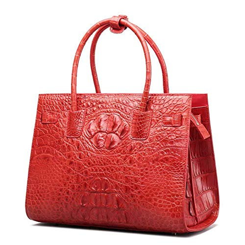 pour Sac Crocodile Dames red Main WWAVE B clocharde Cuir à à Sacs de Femme Le Main wq4KXK1At