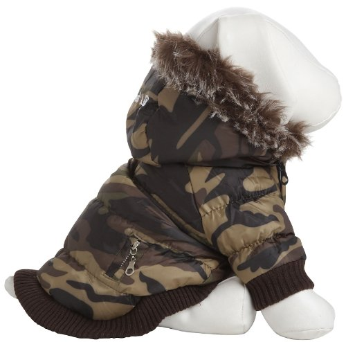 Pet Life Metallic Fashion Parka with Removable Hood in Camouflage – X-Large, My Pet Supplies