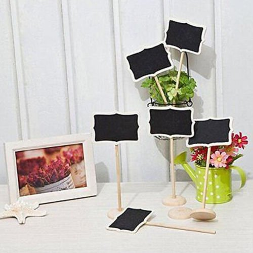 NUOLUX 10PCS Mini Chalkboard with Stand,2 Liquid Chalks,10 Pieces Replace Film for Message Board Signs by NUOLUX (Image #3)