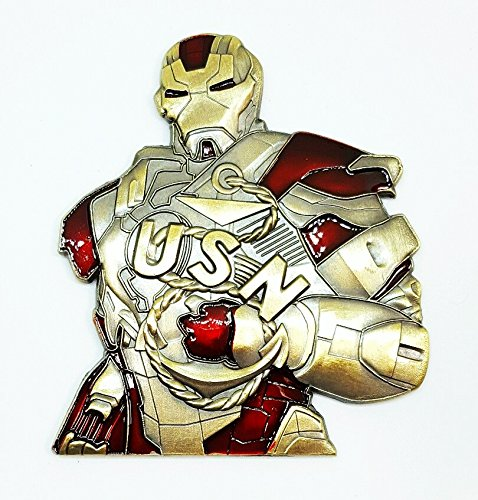 US US Navy CPO Squadron Chief Mess - Iron Man Avengers Marvel Challenge Coin ()
