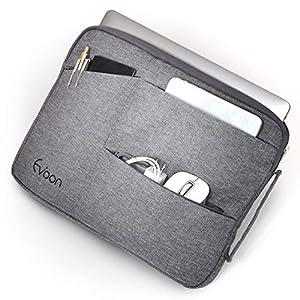 Evoon パソコン ケース ノートパソコン ケース 15-16インチ 防水/衝撃吸収/多機能 15.6inch グレー