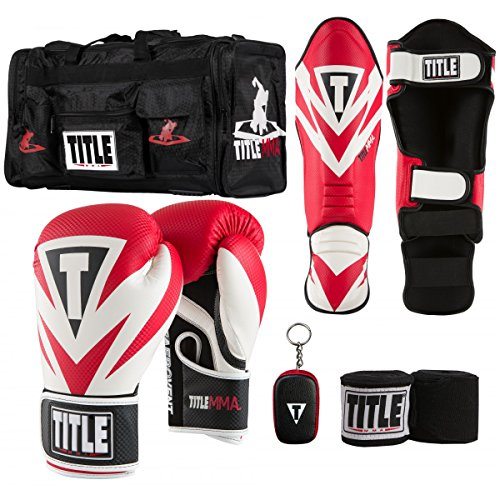 TITLE MMA Training Set VI, Red, 14 oz