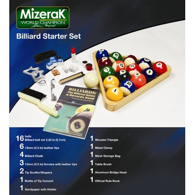 Mizerak Billiards Balls - Mizerak Billiard Starter Set