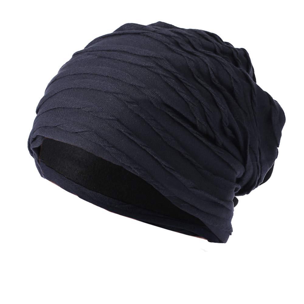 Men Women Knit Caps, Sttech1 Baggy Warm Crochet Winter Wool Knit Ski Beanie Skull Slouchy Caps Hat (Navy)