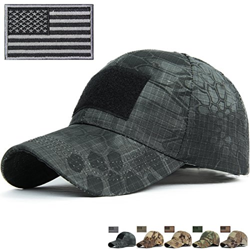 R&S Snake Camouflage Baseball Hats Fitted for Hunting Shooting Tactical Military B002