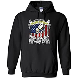 Why Did I Become A Seabee Veteran? Funny Gift For Men, Veteran Day Hoodie