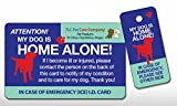 My DOG Is HOME ALONE Pet Alert Emergency ICE ID Plastic Wallet Card and Keytag (Qty. 1)