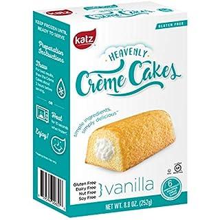 Katz Gluten Free Vanilla Crème Cakes | Dairy Free, Nut Free, Soy Free, Gluten Free | Kosher (6 Packs of 6 Crème Cakes, 8.8 Ounce Each)