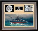 Navy Emporium USS HALE DD 642 Framed Navy Ship Display Grey