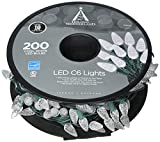 NOMA/INMLITEN-IMPORT 47940-88A 200 Count, Cool White, C6, LED Light Set, On Spool, Green Wire, 3'' Light Spacing, 12'' Lead, 4'' End, 49.8' Lighted Length, 51' Total Length.