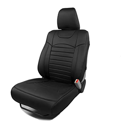 BEHAVE Black Car seat Covers,Custom Fit Seat Covers Fit for Honda 2015 2016 CRV,Pack of Leather Seat Covers for SUV Full Set with 4 pcs Saddle Covers,4 pcs Back Covers,5 pcs Headrest Covers ¡: Automotive