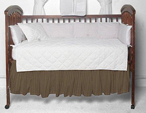 - Patch Magic Fabric Crib Dust Ruffle, Olive Green/Tan Stripes