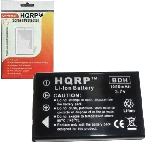HQRP Battery for Aiptek P-HD//PHD V5T6 AHD V5VP Pocket DV5800 w//Built-in Charger//DZO-V58N Camcorder Replacement Plus Screen Protector Action-HD GVS//ActionHD GVS V5Z5S A-HD+
