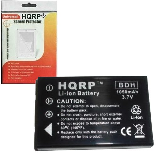 HQRP Rechargeable Lithium Ion Battery Replacement for Aiptek for is DV Digital, GO-HD and A-HD Digital Camcorders Plus Screen Protector
