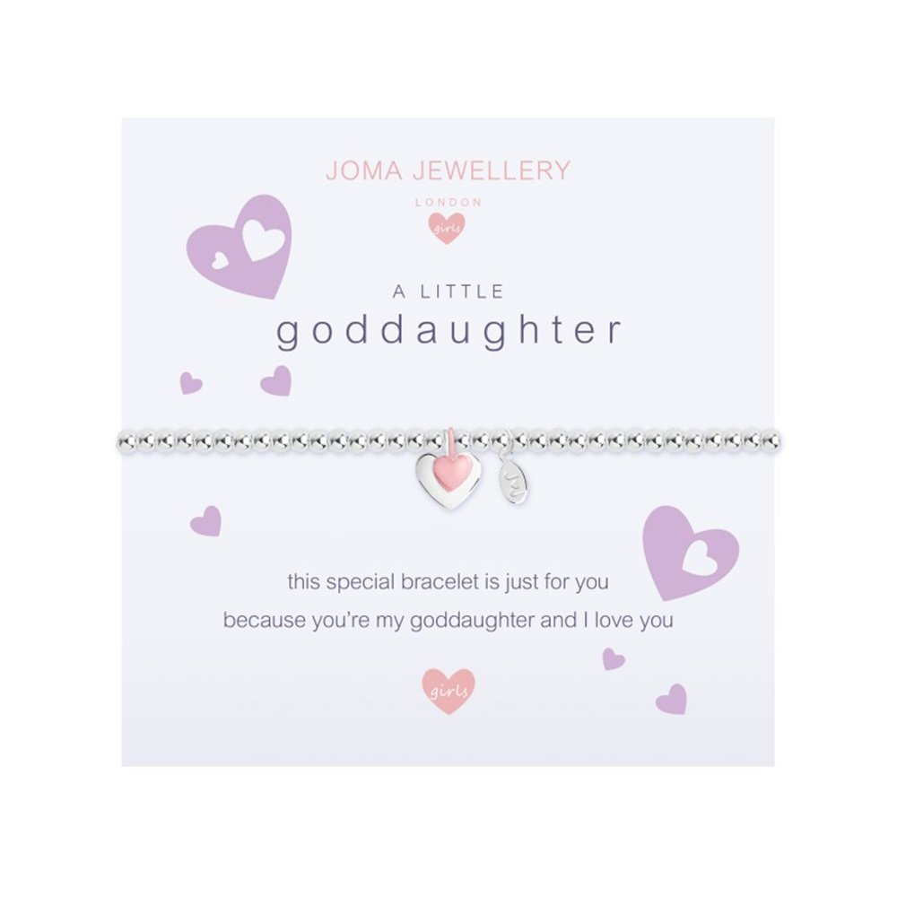 Joma Jewellery Childrens a little Goddaughter bracelet c393