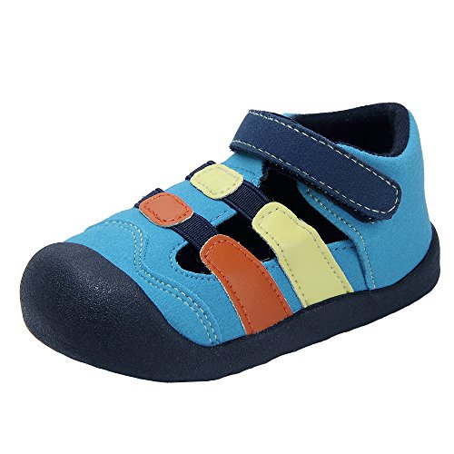 Kuner Baby Boys and Girls Cotton Rubber Sloe Outdoor Non-Slip Sandals First Walkers Shoes