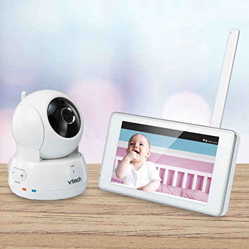VTech VM991 Wireless WiFi Video Baby Monitor with Remote Access App, 5-inch Touch Screen, Remote Access Pan, Tilt & Zoom, Motion Alerts & Support for up to 10 Cameras by VTech (Image #7)
