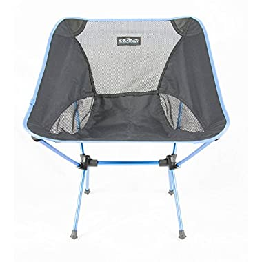 Saratoga Portable Ultralight Outdoor Camp Folding Chair … (Turquoise)