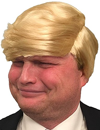 Hisilli Hilarious Donald Trump Wig (Yellow-Blonde) ()