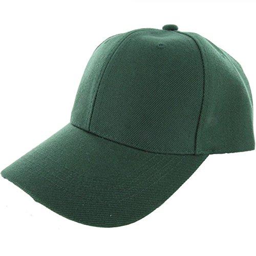 Jungle Green-100% Acrylic Plain Baseball Cap Baseball Golf Fishing Cap Hat Men Women Adjustable Velcro (US - Aviators Ysl