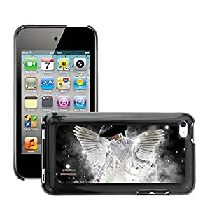 Super Stellar Slim PC Hard Case Cover Skin Armor Shell Protection // M00051480 aero white creative angel // Apple iPod Touch 4 4G 4th