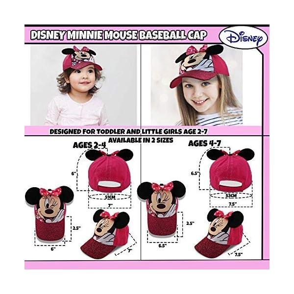 Disney Little Girls Minnie Mouse Character Cotton Baseball Cap, Age 2-7