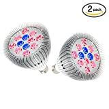 LED Grow Light Bulb, OxyLED Plant Growing Lights Bulbs, Growing Lamp with Red/Blue Spectrum for Indoor Plants, Hydroponic, Greenhouse, 2 Pack(12W, Free E26 Socket) Review